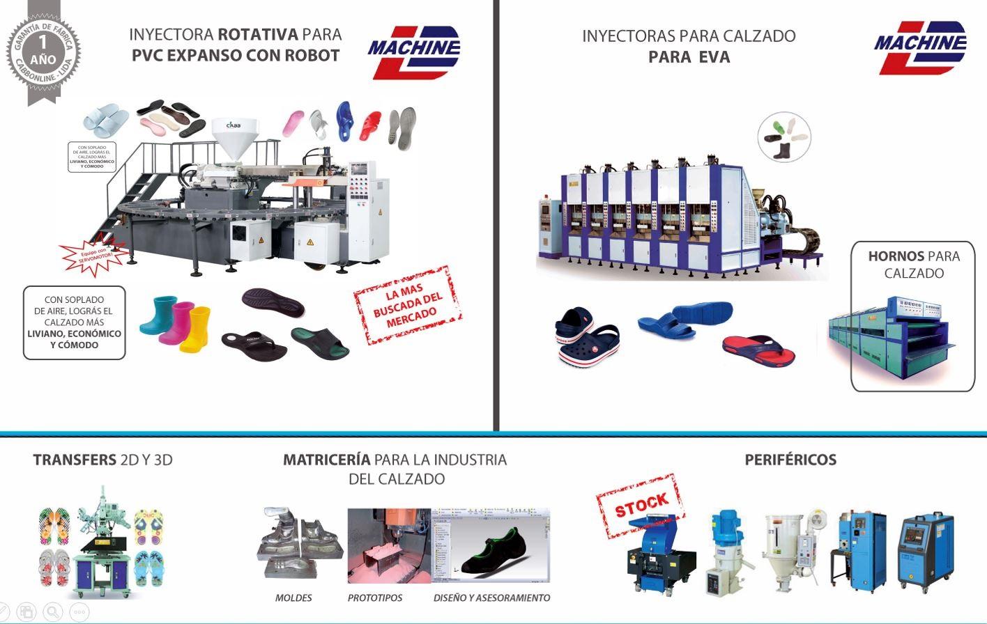 Maquinaria para fabricar calzado
